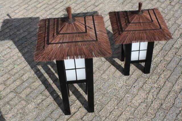 houten japanse lantaarn
