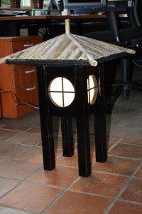 houten japanse wandlamp