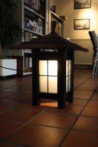 japanse houten wandlamp